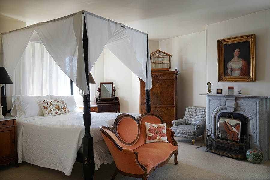 Alma Spreckles bedroom at The Parsonage