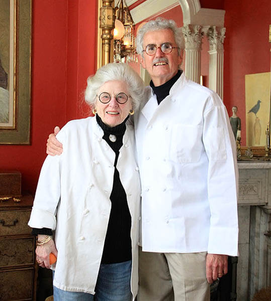 Joan Hull and John Phillips, owners of The Parsonage Inn